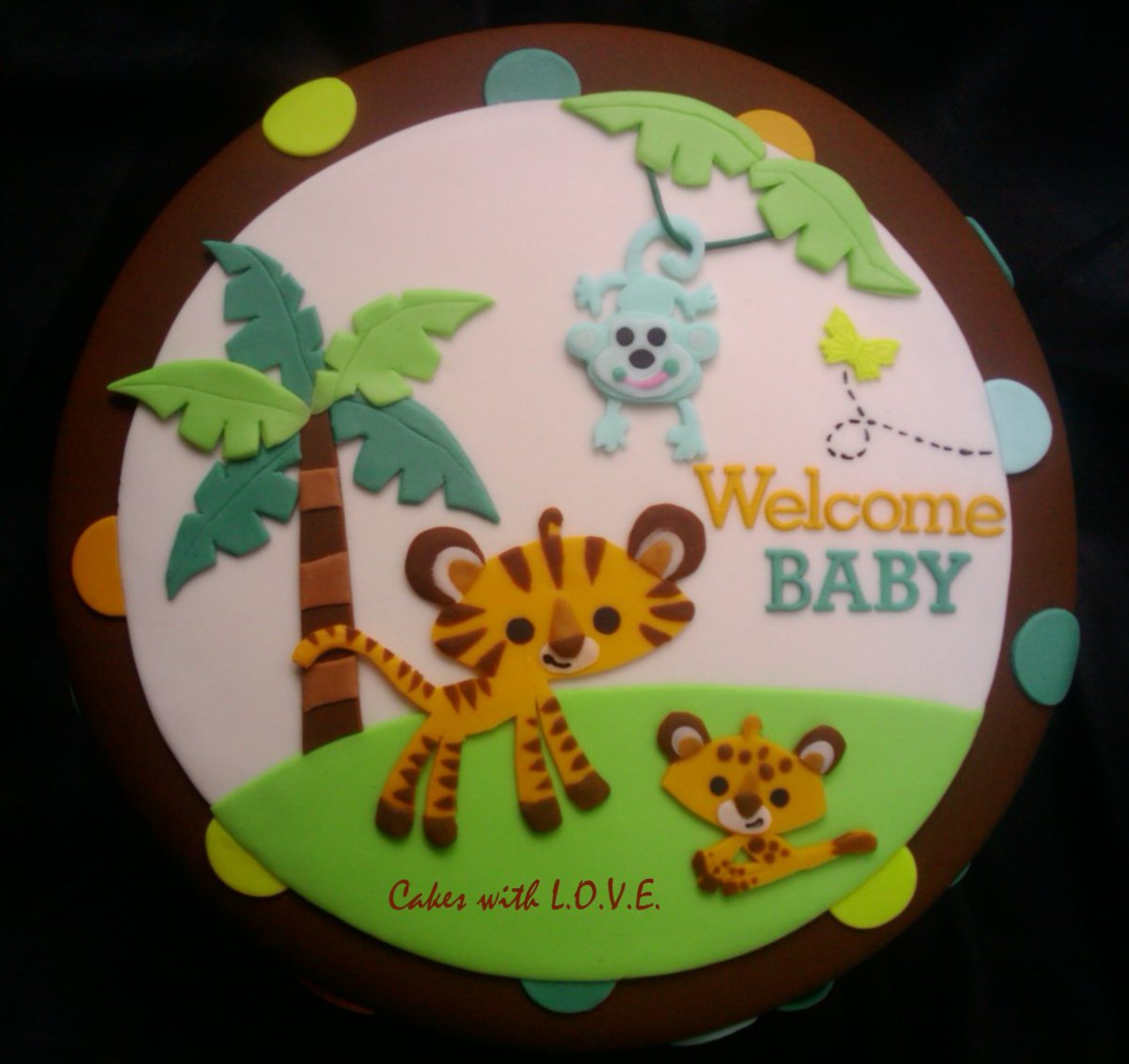 Fisher Price Jungle Theme Cake