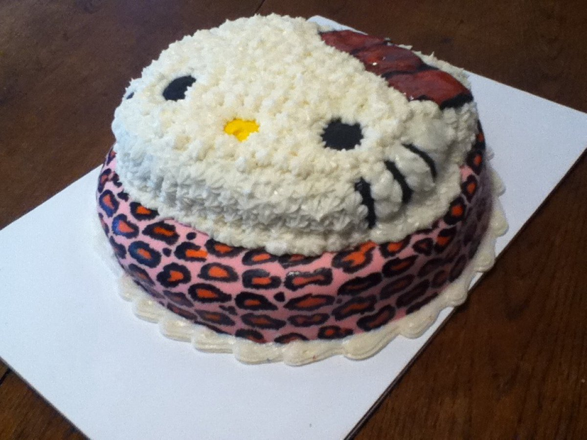 Hello Kitty Pink Leopard Birthday Cake Cake Theater